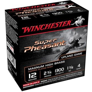 "Winchester Super-X Pheasant 12 Gauge 4 Shot 2.75"" 25 Round Box X12PH4"