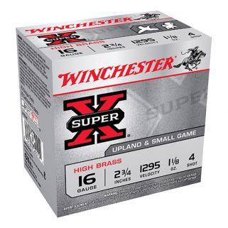 """Winchester Super-X High Brass 16 Gauge 4 Shot 2.75"""" 25 Round Box X16H4"""