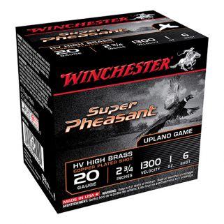 "Winchester Super-X Pheasant 20 Gauge 6 Shot 2.75"" 25 Round Box X20PH6"