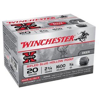 """Winchester Super-X 20 Gauge Slug Shot 2.75"""" 15 Round Box X20RSM5VP"""