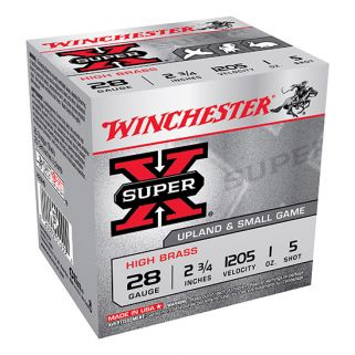 "Winchester Super-X High Brass 28 Gauge 5 Shot 2.75"" 25 Round Box X28H5"