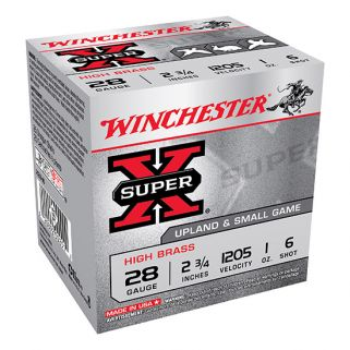 "Winchester Super-X High Brass 28 Gauge 6 Shot 2.75"" 25 Round Box X28H6"