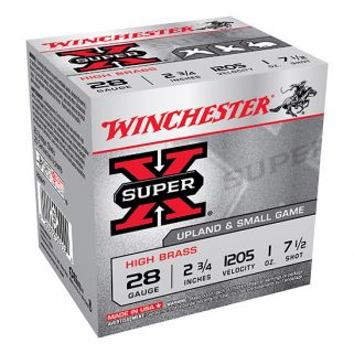 "Winchester Super-X High Brass 28 gauge 7.5 Shot 2.75"" 25 Round Box X28H7"