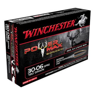 Winchester Power Max Bonded 30-06 Springfield 180 Grain 20 Round Box X30064BP