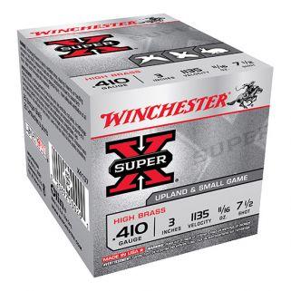 """Winchester Super-X High Brass 410 Gauge 7.5 Shot 3"""" 25 Round Box X4137"""