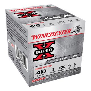 "Winchester Super-X High Brass 410 Gauge 6 Shot 3"" 25 Round Box X413H6"