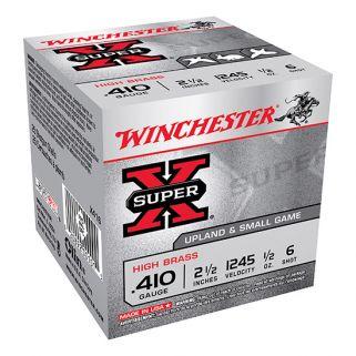 """Winchester Super-X High Brass 410 Gauge 6 Shot 2.5"""" 25 Round Box X416"""