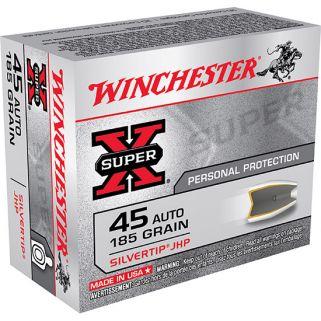 Winchester Super-X 45ACP 185 Grain 20 Round Box X45ASHP2