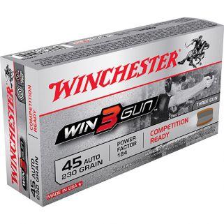 Winchester Win3Gun 45ACP 230 Grain 50 Round Box X45TG