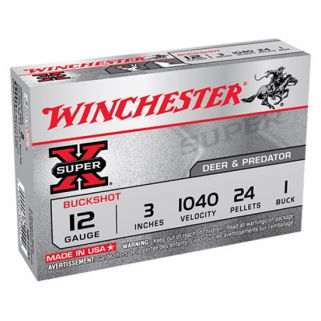 "Winchester Super-X 12 Gauge 1 Shot 3"" 5 Round Box XB1231"