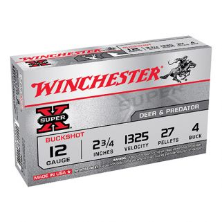 "Winchester Super-X 12 Gauge 4 Shot 2.75"" 5 Round Box XB124"