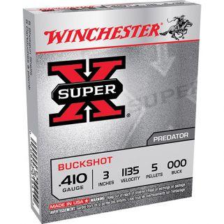 """Winchester Super-X 410 Gauge 000 Buck 3"""" 5 Round Box XB413"""