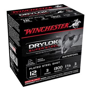 "Winchester Super-X Drylok Super Steel Magnum 12 Gauge 3 Shot 3"" 25 Round Box XSM1233"