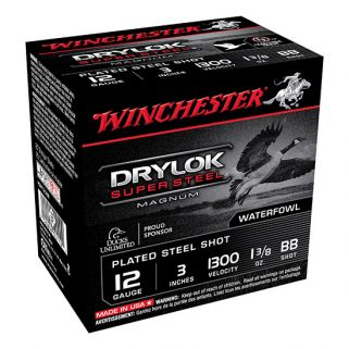 "Winchester Super-X Drylok Super Steel Magnum 12 Gauge BB Shot 3"" 25 Round Box XSM123BB"