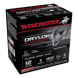 "Winchester Super-X Drylok Super Steel Magnum 12 Gauge 2 Shot 3"" 25 Round Box XSV1232"