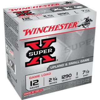 "Winchester Super-X 12 Gauge 7.5 Shot 2.75"" 25 Round Box XU127"