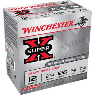 "Winchester Super-X 12 Gauge 7.5 Shot 2.75"" 25 Round Box XU12H7"
