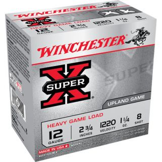 "Winchester Super-X 12 Gauge 8 Shot 2.75"" 25 Round Box XU12SP8"