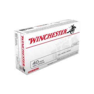 Winchester USA 40S&W 180 Grain FMJ 50 Round Box Q4238