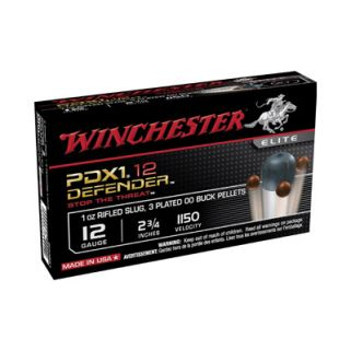 "Winchester Supreme Elite PDX1 12 Gauge 00Buck Shot 2.75"" 10 Round Box S12PDX1"