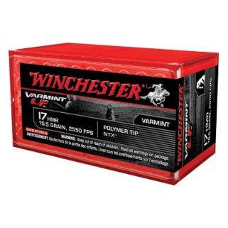 Winchester Varmint LF Rimfire 17HMR 15.5 Grain 50 Round Box S17HMR1LF