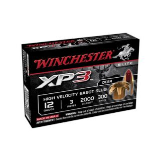 "Winchester Supreme Elite XP3 12 Gauge Sabot Shot 3"" 5 Round Box SXP123"