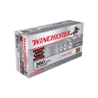 Winchester Super-X WinClean 380ACP 95 Grain 50 Round Box WC3801