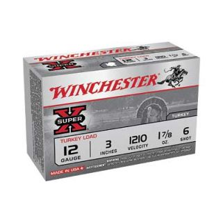 "Winchester Super-X Turkey Load 12 Gauge 6 Shot 3"" 10 Round Box X123MT6"