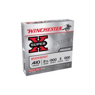 """Winchester Super-X 410 Gauge 000 Buck 2.5"""" 5 Round Box XB41000"""
