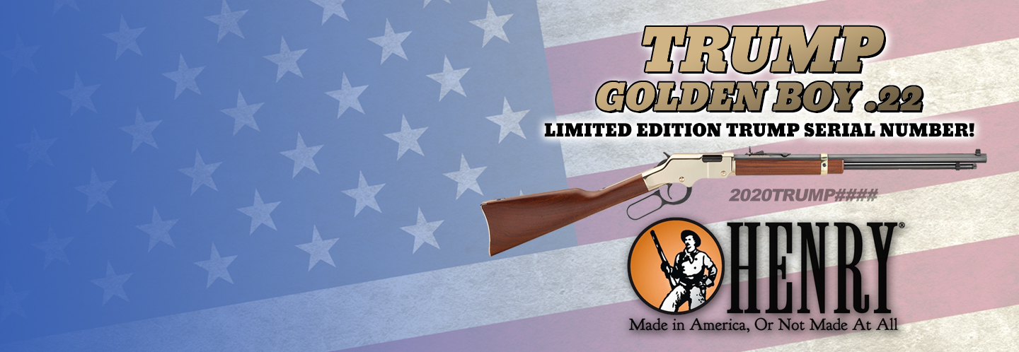 This limited edition Henry Golden Boy features a special TRUMP 2020 serial number range!