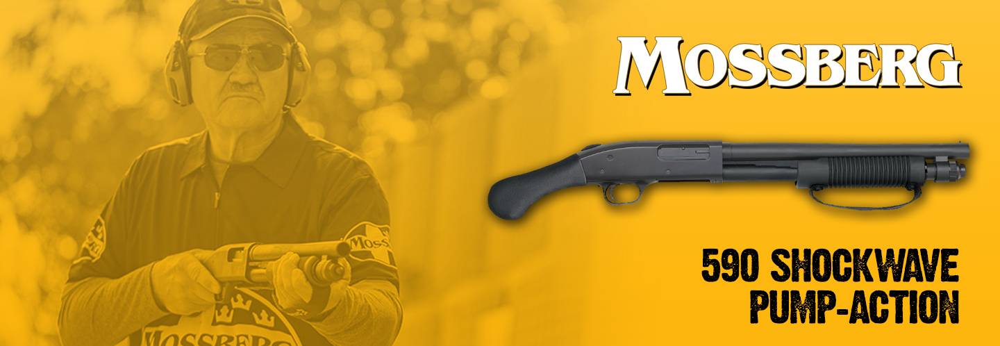 The famously popular Mossberg 590 Shockwave is back in stock at an amazing price!