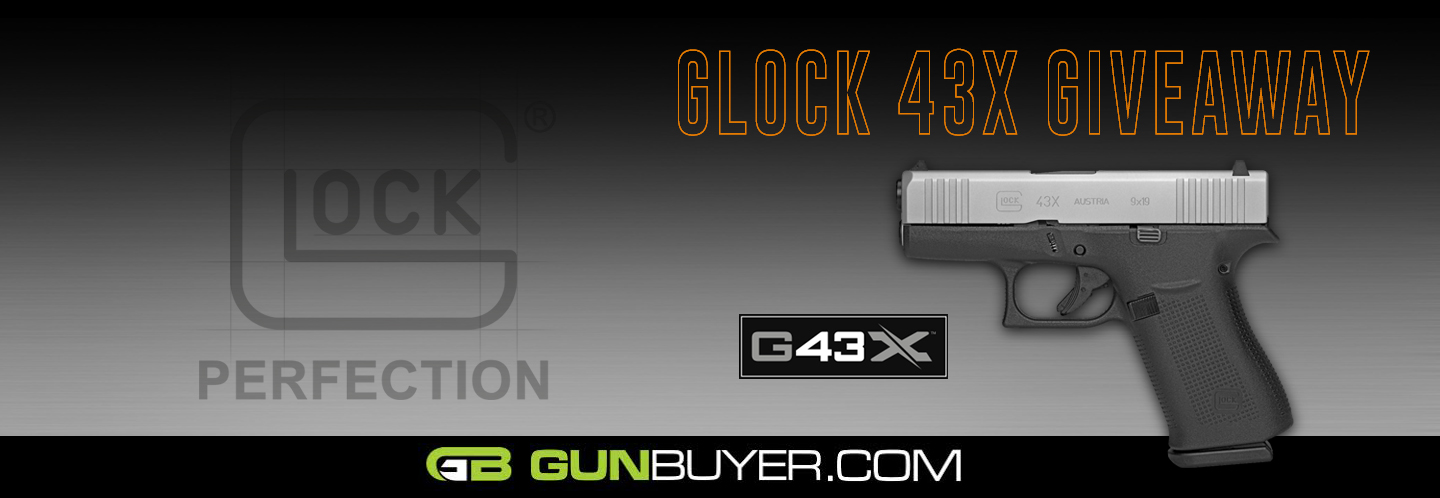 Enter now for a chance to win a Glock 43X! Must be 21+ to enter. Contest ends March 7th, 2019 11:59pm ET.