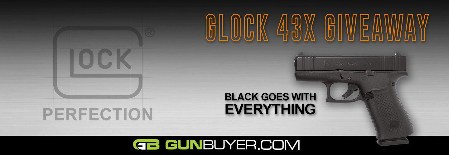 Enter now for a chance to win a NEW Glock 43X Black! Must be 21+ to enter. Contest ends September 19th, 2019.