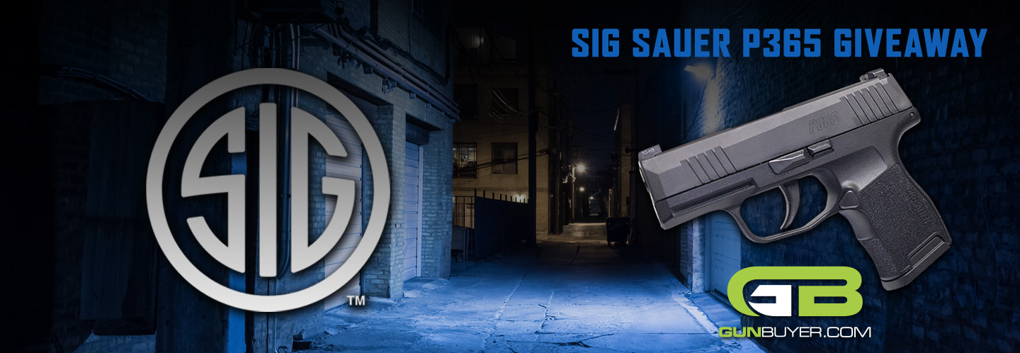 Enter now for a chance to win a NEW Sig Sauer P365 9mm pistol! Must be 21+ to enter. Good luck!
