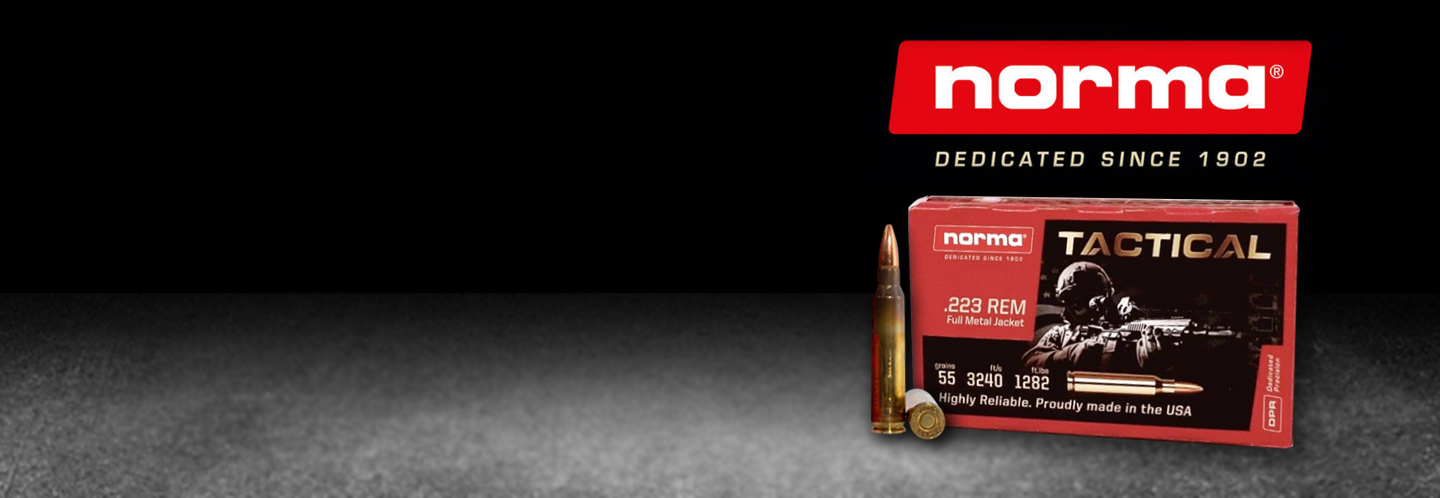 Norma .223 Rem FMJ in stock!