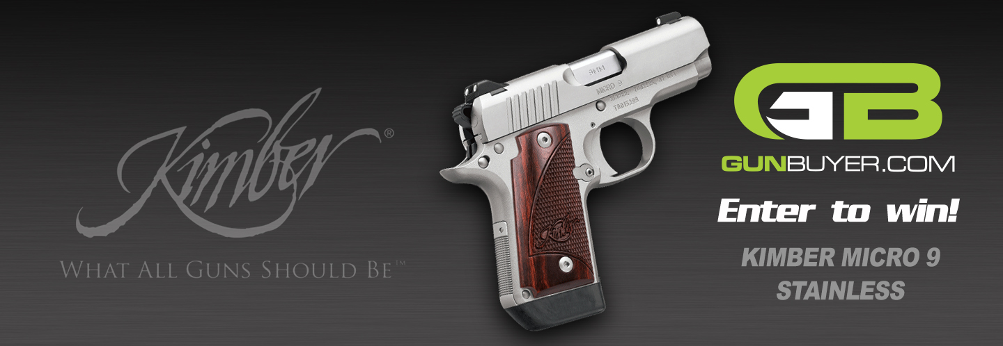 Enter to win a BRAND NEW Kimber Micro 9 Stainless from Gunbuyer.com! Contest ends November 30th, 2018!