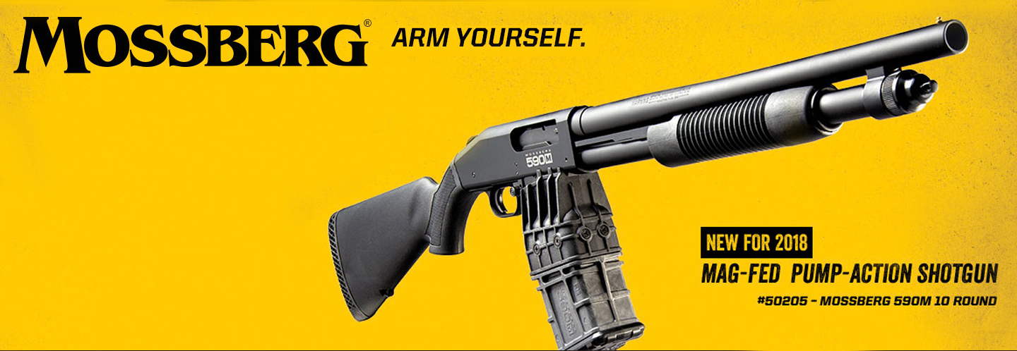 Save on Mossberg's mag-fed 12 Gauge, the 590M!