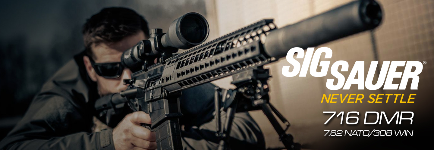 Right out-of-the box, the Gen2 SIG716 DMR features an improved gas system, lightweight handguard, and overall weight reduction of over two pounds.