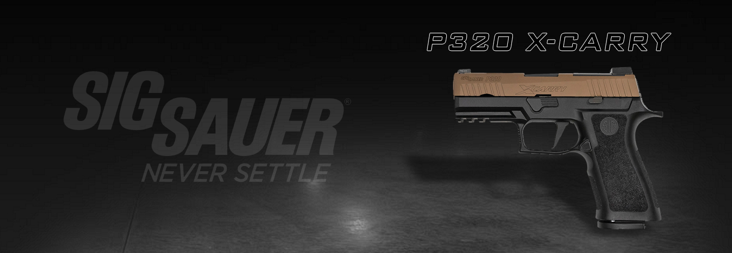 Just arrived, New P320 X-Carry in Coyote/Black! Check out the latest variant to Sig Sauer's P320 line.