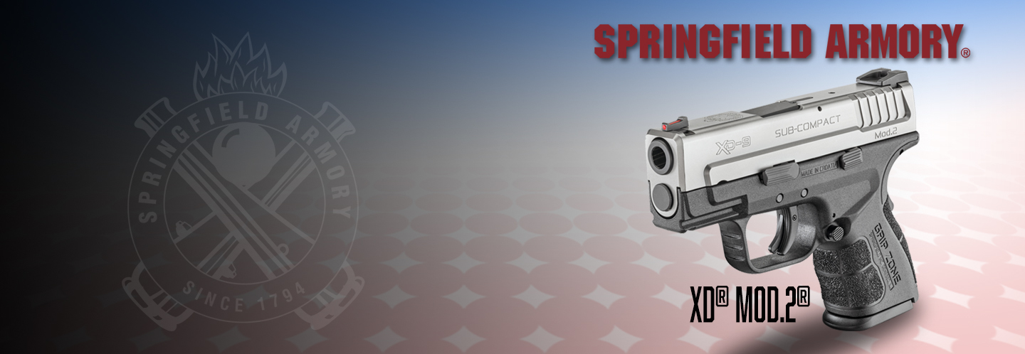 Springfield Armory XD Mod.2 Subcompact in Bi-tone BACK IN STOCK for only $349!