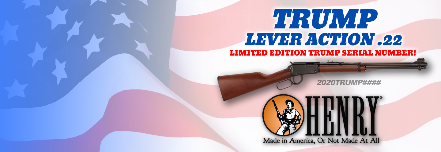 This limited edition run of Henry lever action rifles features a special TRUMP 2020 serial number range!